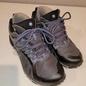Merrell Womens Gray Lace Up Low Top Athletic Hikin